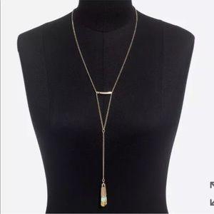 NWT J CREW Beaded Fade Tassel Necklace
